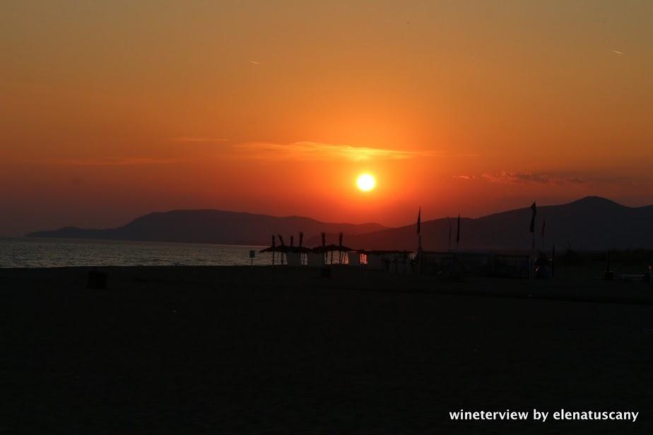 sunset, tramonto, fiumara beach, marina di grosseto