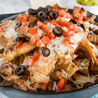 Italian Nachos with Sausage.