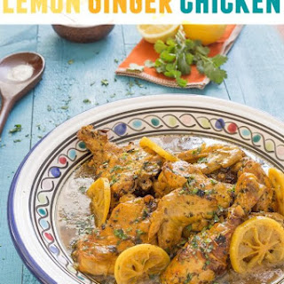 Nacera's Lemon Ginger Chicken Tajine.