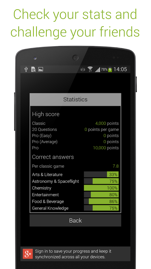 Quizoid Pro: Category Trivia with 5 Game modes- screenshot