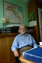 Photo: Andrzej Pisowicz is Polish linguist, specialist in Armenian, Persian and Kurdish languages, author of the first Polish textbook for learning Kurdish (2012)  At his home in Kraków, September 2013