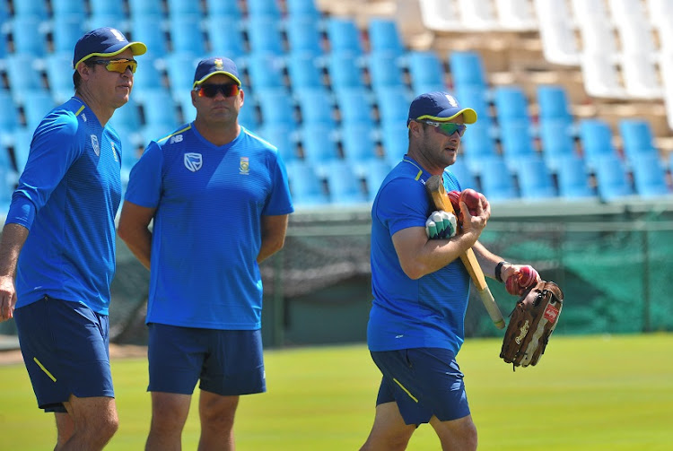 Paul Harris , Jacques Kallis and Mark Boucher coach of Proteas during The Proteas Training on 19 December 2019 at Supersport Park, Centurion.