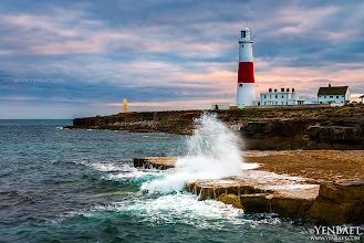 Photo: Sunset at Portland Bill Lighthouse - Dorset Coast, England.  Located in the southern part of the Isle of Portland in the county of Dorset, the Portland Bill lighthouse is one of three lighthouses that were built to protect ships from the strong tidal race and shallow reef. The distinctively red and white striped lighthouse was built in 1906 and has a height of 35 metres (115 ft).  #PortlandBill   #Dorset   #England   #UK   #Travel   #Photography   © Yen Baet - www.YenBaet.com. All Rights Reserved. Join me on Facebook at www.facebook.com/YenBaetPhotography.