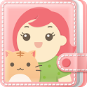 여성앱1위 핑크다이어리(생리 피임 배란 임신달력) icon