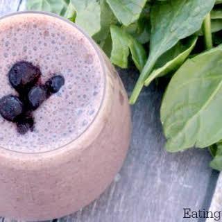 Easy Spinach Blueberry Yogurt Smoothie.