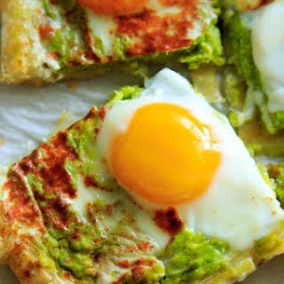Egg Puff Pastry with Avocado Base.
