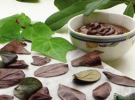 For Chocolate Leaves, melt 1 oz. semisweet chocolate at MEDIUM HIGH power for about...