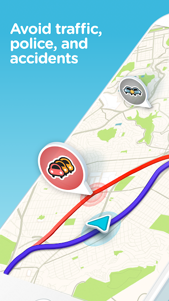 Waze - GPS, Maps, Traffic Alerts & Live Navigation Android App Screenshot