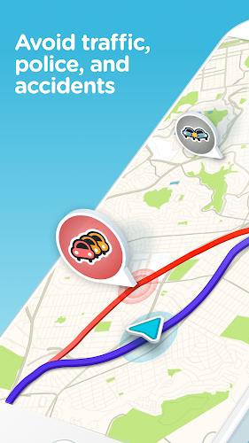 Waze - GPS, Maps, Traffic Alerts & Live Navigation Android App Screenshot
