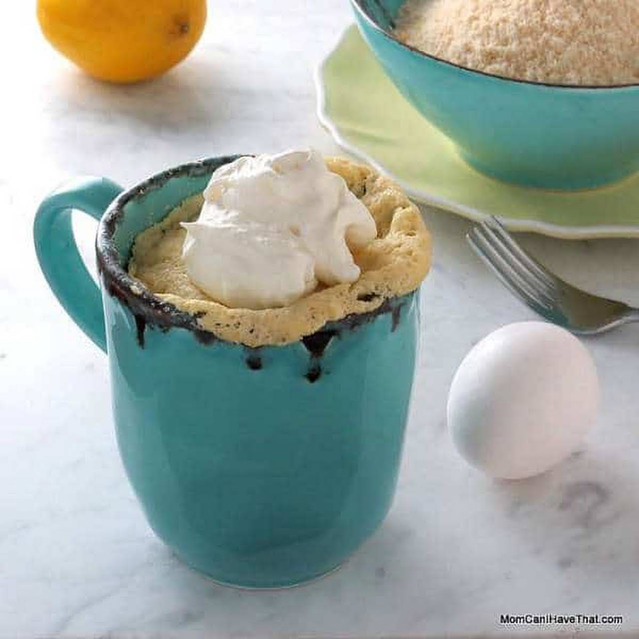Low Carb Lemon Mug Cake (Sugar-free Lemon Cake)