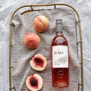 Low-Sugar White Peach Jam with Rosé