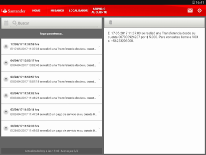 Santander chile app report on mobile action for Localizador oficinas santander