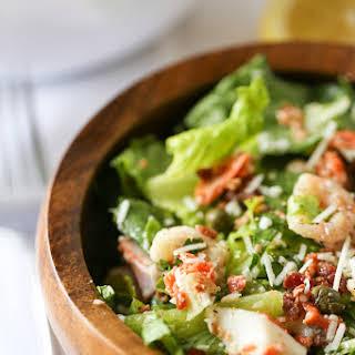 Seafood Caesar Salad.