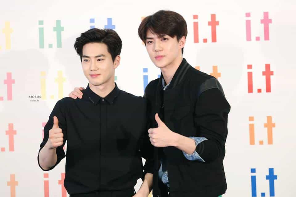 EXO Suho and Sehun