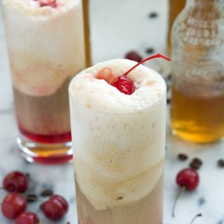 Cherry Vanilla and Salted Caramel Affogatos {Ice Cream Floats}.