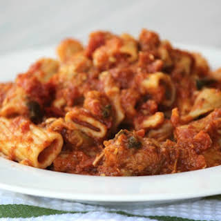 Macaroni with Eggplant and Breadcrumbs.