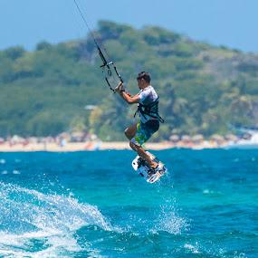 Kite Surfing by Greg Bracco - Sports & Fitness Watersports ( wind, st. martin, kite surfing, water sports )