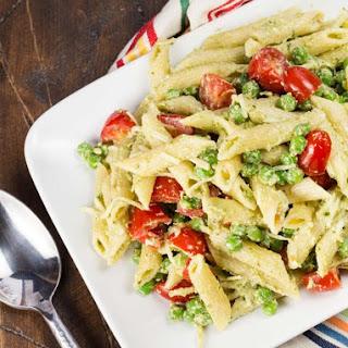 Pesto Pasta Salad with Peas.