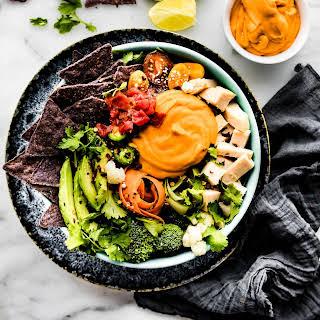 Loaded Leftover Turkey Nachos Salad Bowls {Dairy Free Option}.