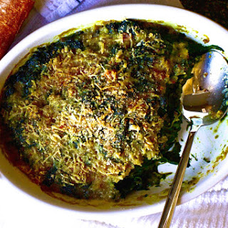 The Best Baked Spinach [Julia's Child's Spinach Gratin with Cheese].