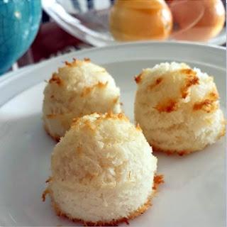 Sweet Meyer Lemon Coconut Macaroon Cookies