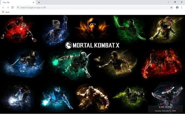 Mortal Kombat X Custom New Tab