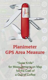 Planimeter - GPS area measure- screenshot thumbnail