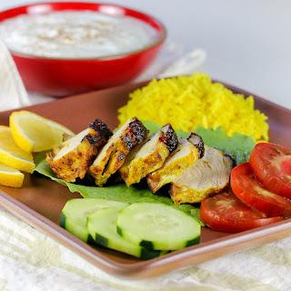 Grilled Tandoori Chicken with Cucumber-Yogurt Sauce (Gluten-Free).