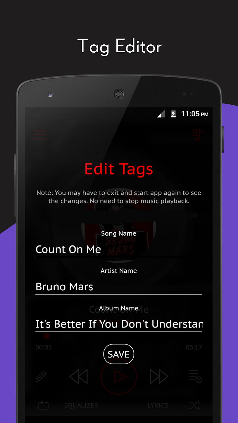 Crimson Music Player - MP3, Lyrics, Playlist Screenshot 4