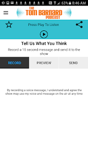 Tom Barnard Podcast App - náhled