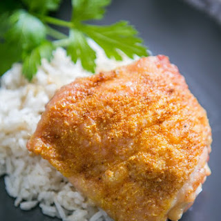 Curry Baked Chicken Thighs.