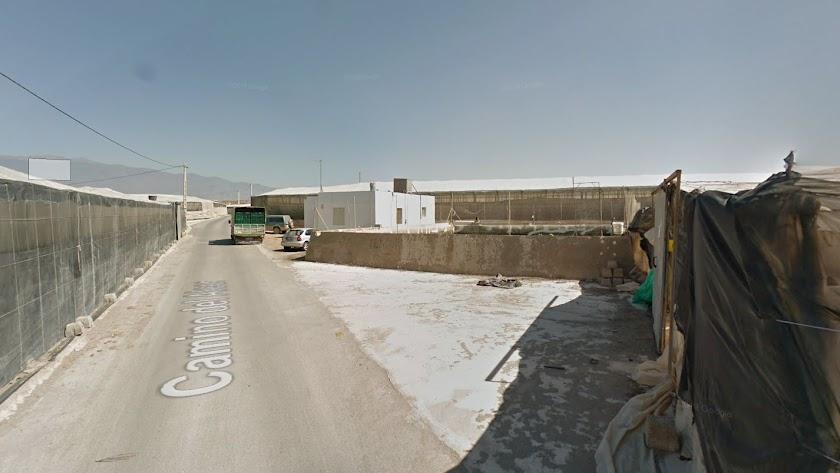 Zona de invernaderos, en Matagorda, donde ha sido encontrada la menor.