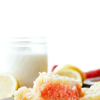 Strawberry Gooey Butter Cake Bars