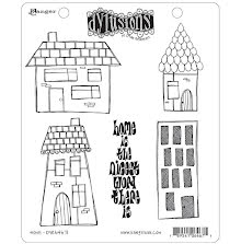 Dylusions Cling Stamps 8.5X7 - Home