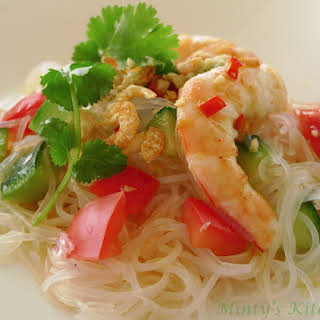 Vietnamese Prawns & Glass Noodles Salad.