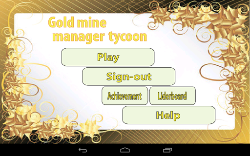 Gold Mine Manager Tycoon Game