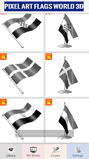 Pixel Art: 3D Flags & Cartoon Coloring by Number cheat screenshots 3