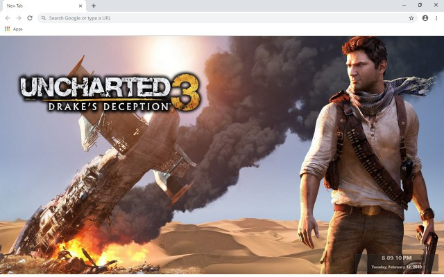 Uncharted 3 Drake S Deception New Tab Theme