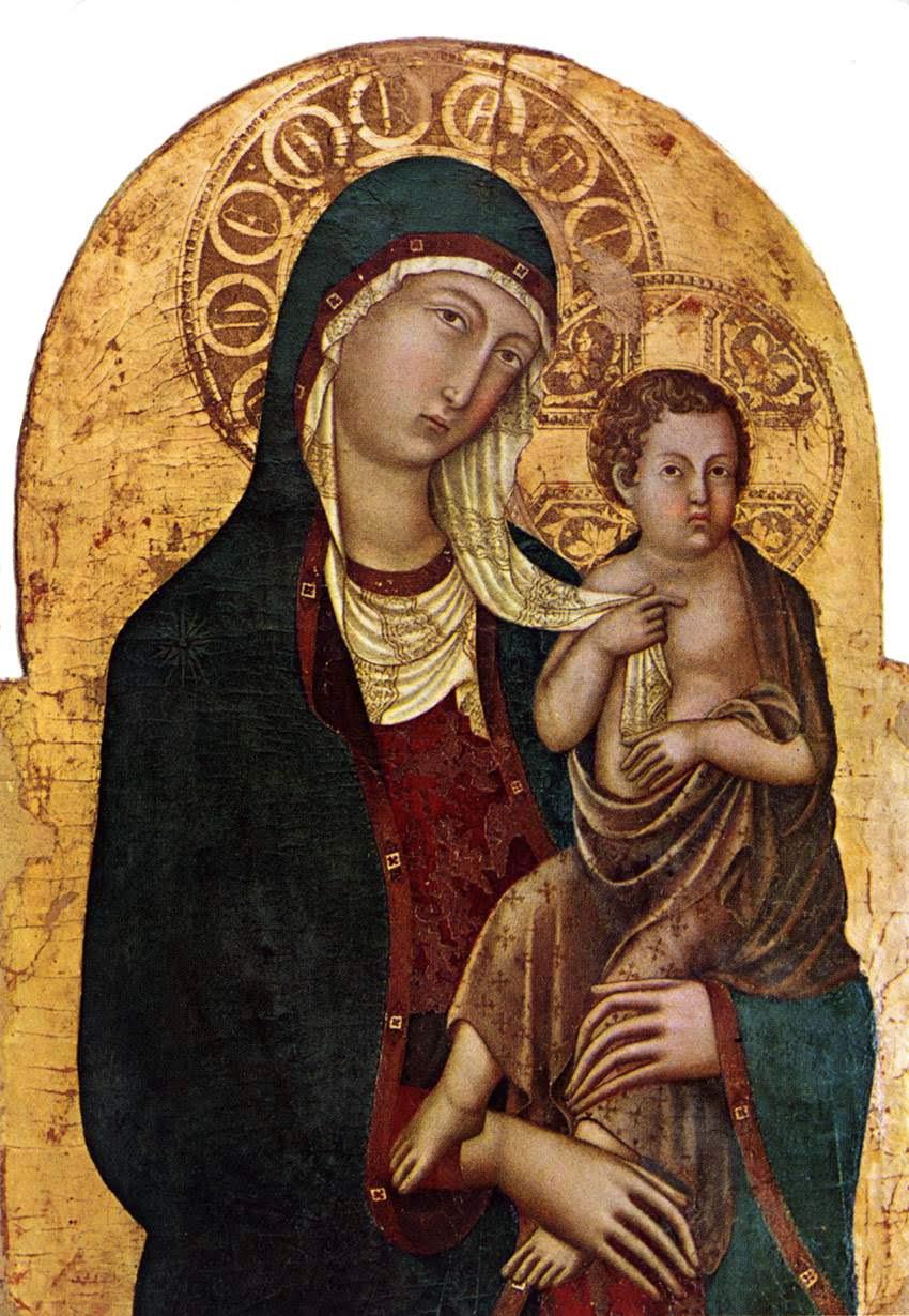 Niccolò di Segna,Madonna col Bambino, 1336 circa, 102x67cm,Museo Diocesano,Cortona