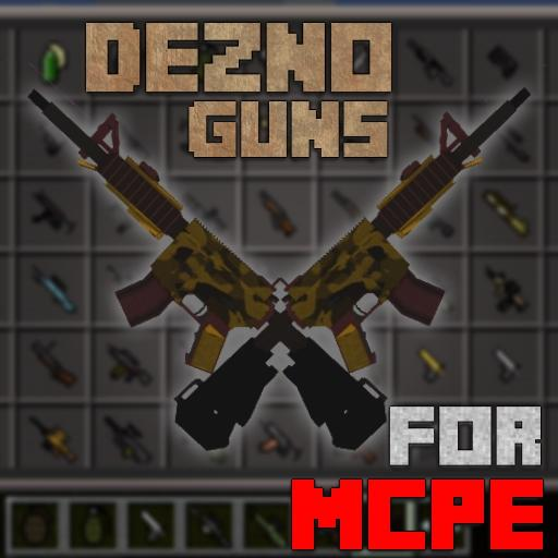 Dezno Guns MOD for MCPE