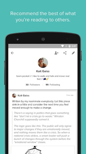 Screenshot 4 for Pocket's Android app'
