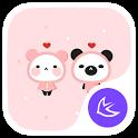 Cute Panda Baby theme & HD wallpapers icon