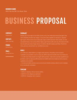 Straightforward Proposal - Business Proposal item