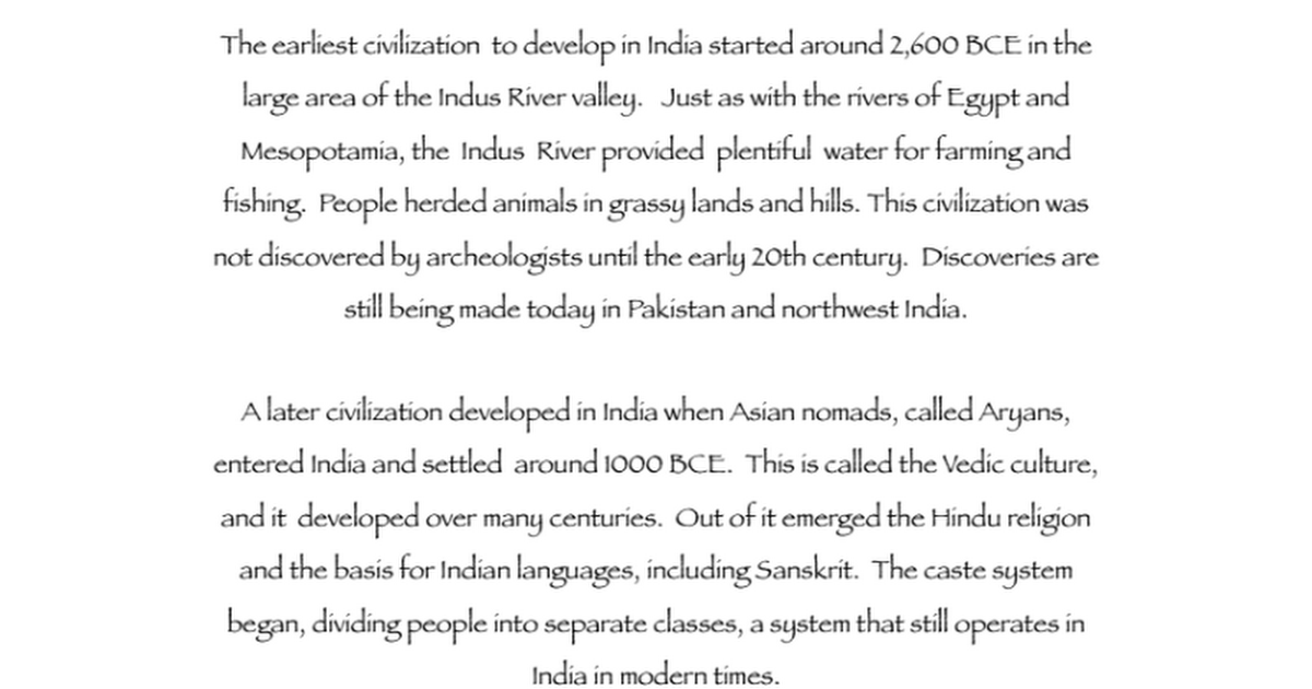 Ancient India Mappdf Google Docs
