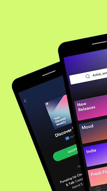 Spotify: Listen to new music, podcasts, and songs Android App Screenshot