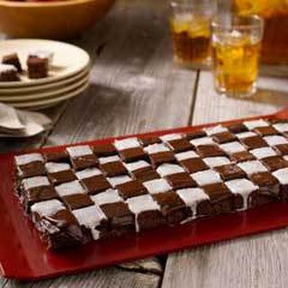 Checkered Flag Fudgy Bites.