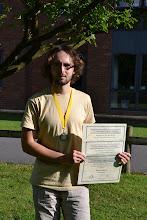Photo: Matyáš a jeho diplomy