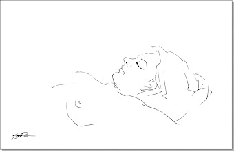 "Photo: ""Reclining Figure"" - pen & ink"