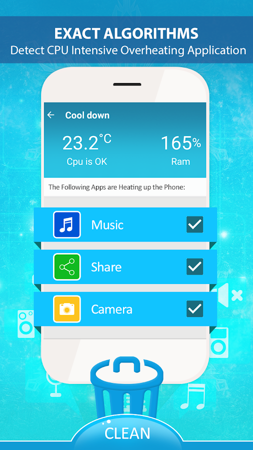 Screenshots of Device Heat Cooling Master for iPhone