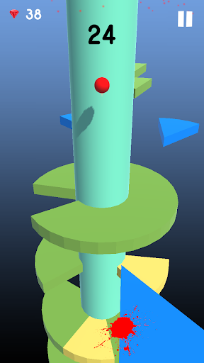 3D Helix Tower bouncing ball jump  captures d'u00e9cran 2
